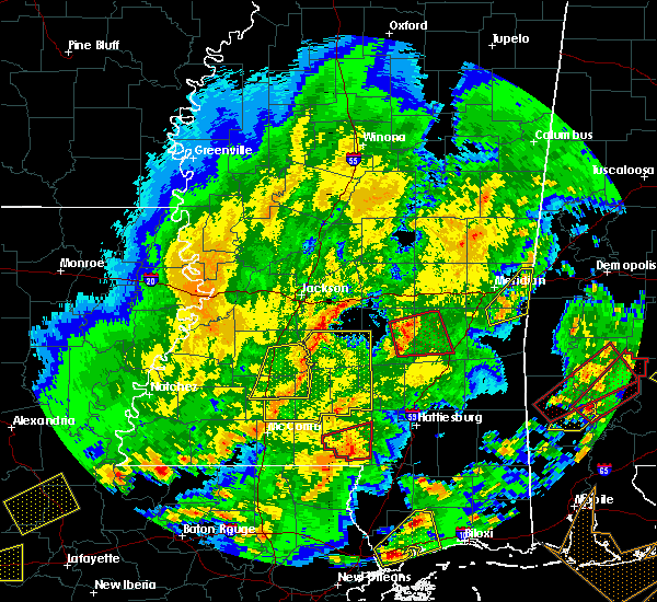 Radar Image for Severe Thunderstorms near Prentiss, MS at 2/15/2016 1:49 PM CST