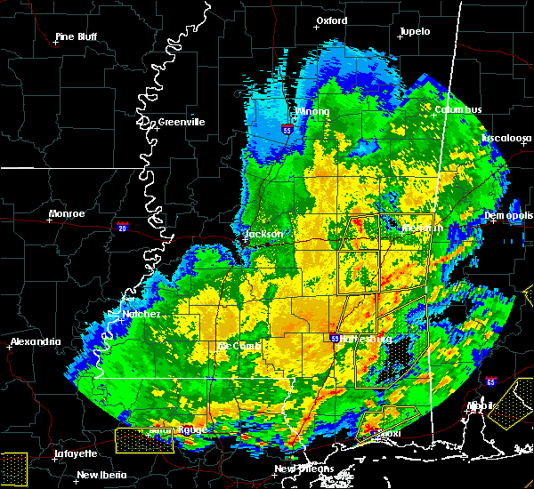 Radar Image for Severe Thunderstorms near Lauderdale, MS at 2/15/2016 2:56 PM CST