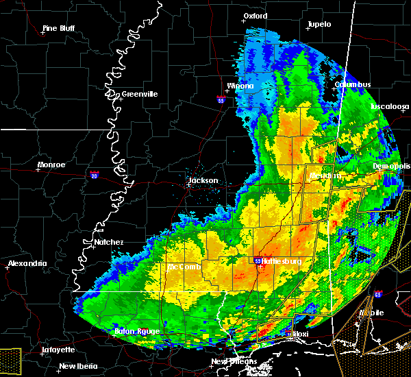 Radar Image for Severe Thunderstorms near Lauderdale, MS at 2/15/2016 3:35 PM CST
