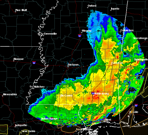 Radar Image for Severe Thunderstorms near Lauderdale, MS at 2/15/2016 3:42 PM CST