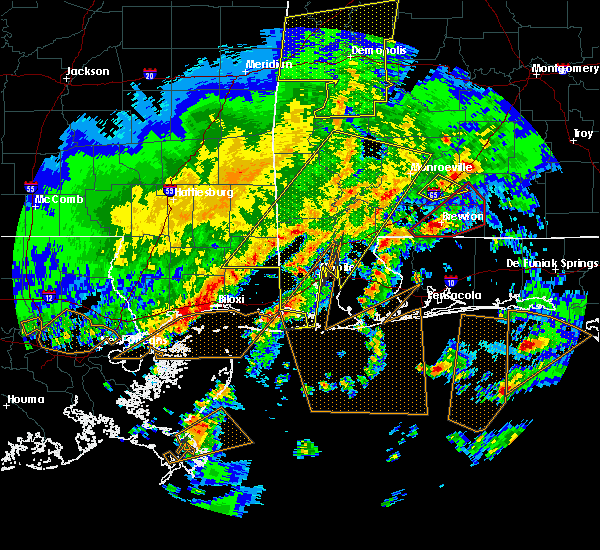 Radar Image for Severe Thunderstorms near Spanish Fort, AL at 2/15/2016 4:03 PM CST