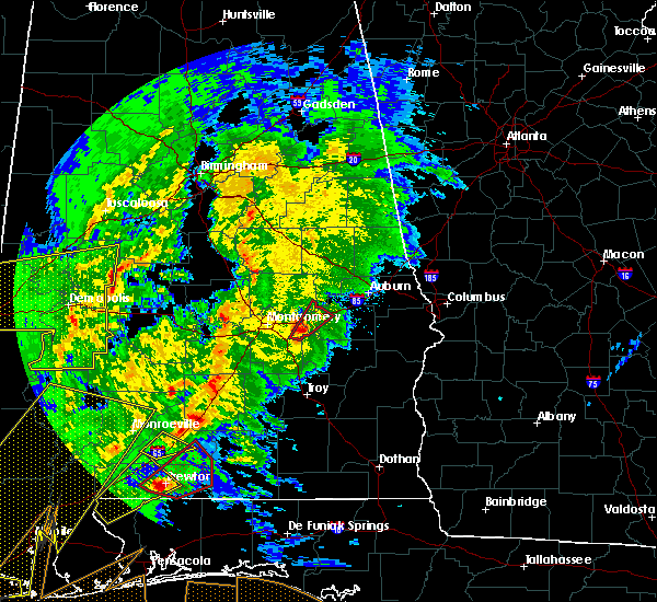 Radar Image for Severe Thunderstorms near Tallassee, AL at 2/15/2016 4:09 PM CST