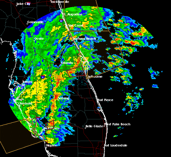Radar Image for Severe Thunderstorms near Cocoa West, FL at 2/16/2016 3:50 AM EST