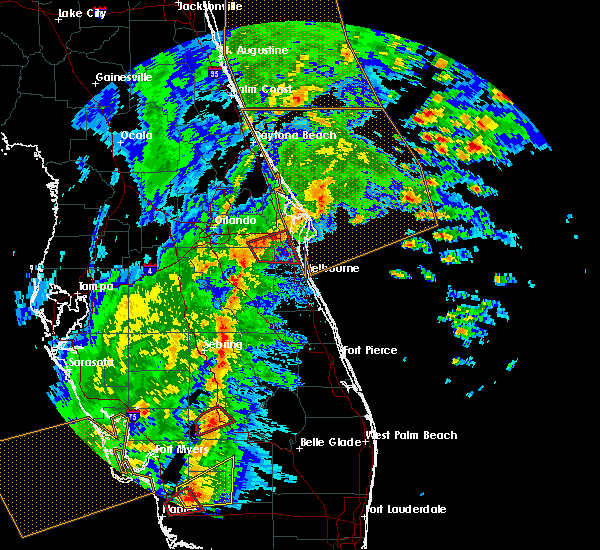 Radar Image for Severe Thunderstorms near Cocoa West, FL at 2/16/2016 4:20 AM EST