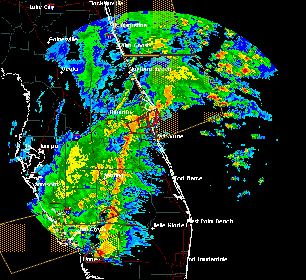 Radar Image for Severe Thunderstorms near Merritt Island, FL at 2/16/2016 4:29 AM EST