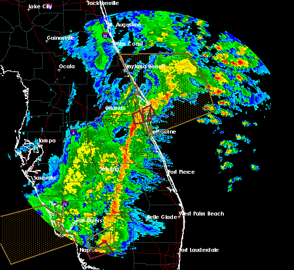 Radar Image for Severe Thunderstorms near Malabar, FL at 2/16/2016 4:43 AM EST