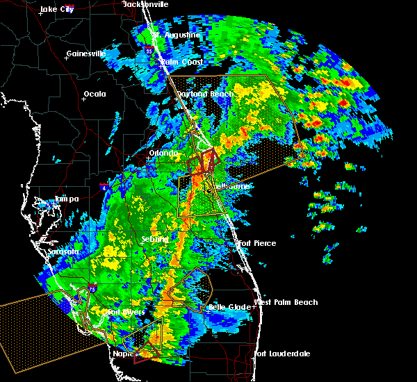 Radar Image for Severe Thunderstorms near Merritt Island, FL at 2/16/2016 4:54 AM EST