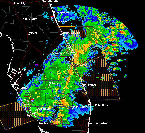 Radar Image for Severe Thunderstorms near Merritt Island, FL at 2/16/2016 5:09 AM EST