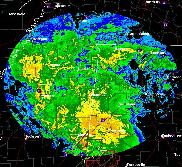 Radar Image for Severe Thunderstorms near Elliott, MS at 2/23/2016 6:15 PM CST