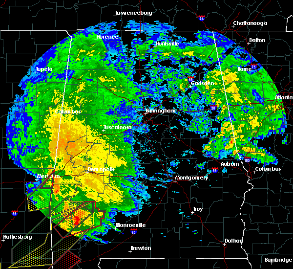 Radar Image for Severe Thunderstorms near Bellamy, AL at 2/23/2016 6:28 PM CST
