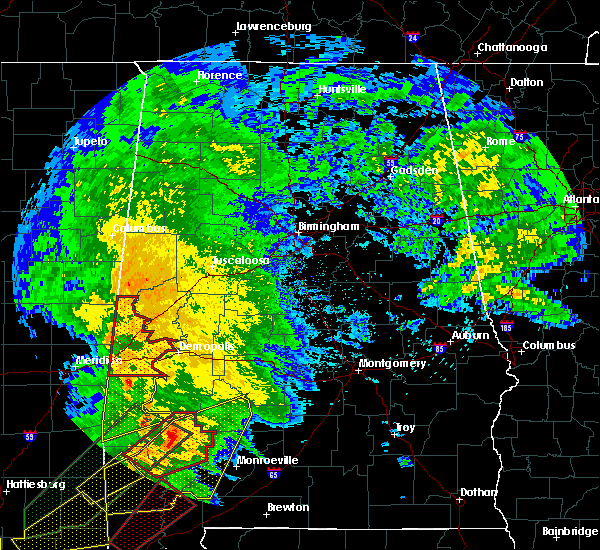 Radar Image for Severe Thunderstorms near Bellamy, AL at 2/23/2016 6:40 PM CST