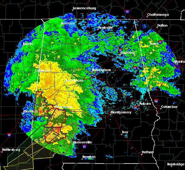Radar Image for Severe Thunderstorms near Bellamy, AL at 2/23/2016 6:59 PM CST
