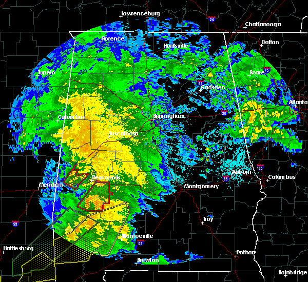 Radar Image for Severe Thunderstorms near Bellamy, AL at 2/23/2016 7:05 PM CST