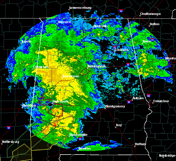 Radar Image for Severe Thunderstorms near Bellamy, AL at 2/23/2016 7:18 PM CST