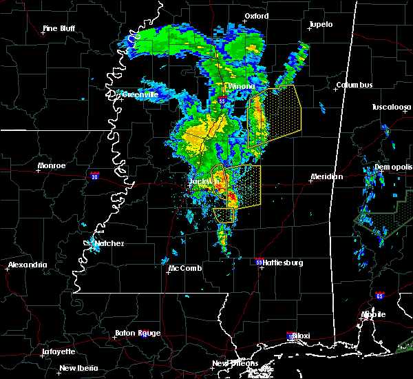 Radar Image for Severe Thunderstorms near Polkville, MS at 2/23/2016 10:18 PM CST