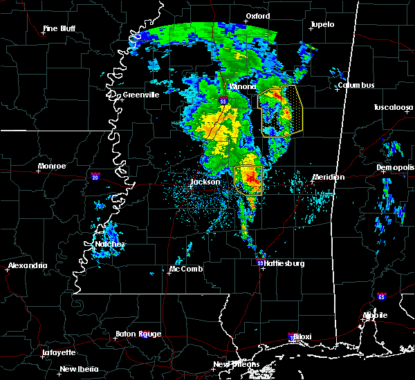 Radar Image for Severe Thunderstorms near Newton, MS at 2/23/2016 10:40 PM CST