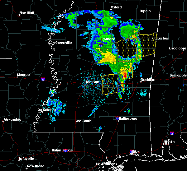 Radar Image for Severe Thunderstorms near Decatur, MS at 2/23/2016 10:59 PM CST