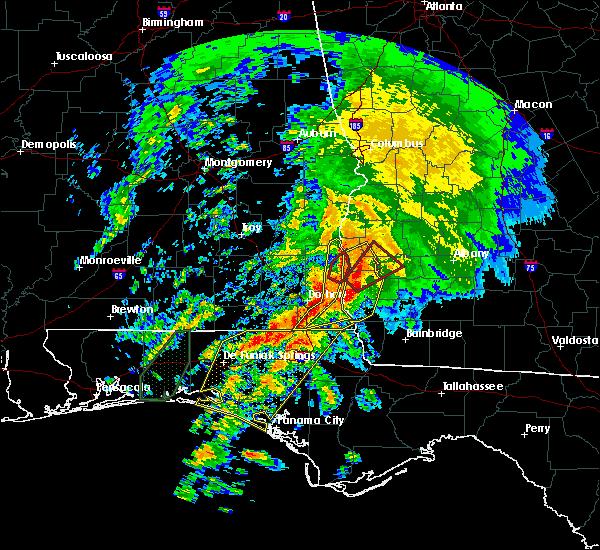 Radar Image for Severe Thunderstorms near Coleman, GA at 2/24/2016 12:14 AM EST
