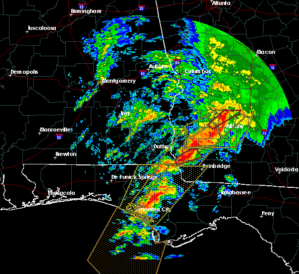 Radar Image for Severe Thunderstorms near Colquitt, GA at 2/24/2016 1:15 AM EST