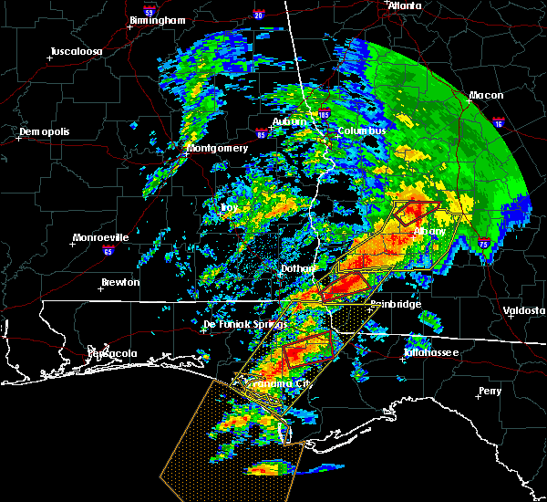 Radar Image for Severe Thunderstorms near Colquitt, GA at 2/24/2016 1:21 AM EST