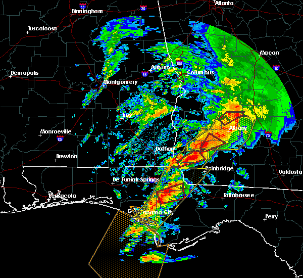 Radar Image for Severe Thunderstorms near Leary, GA at 2/24/2016 1:28 AM EST