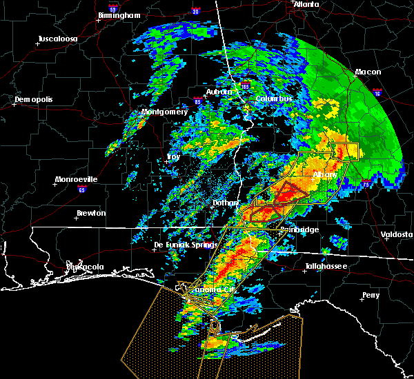 Radar Image for Severe Thunderstorms near Colquitt, GA at 2/24/2016 1:41 AM EST