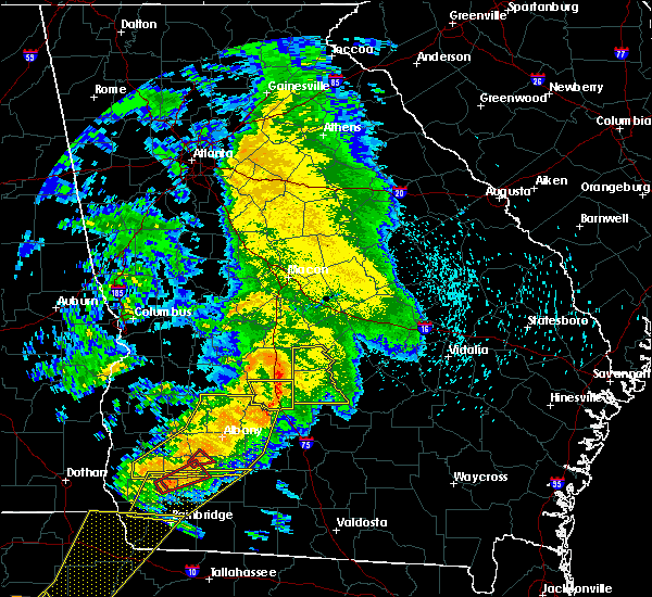 Radar Image for Severe Thunderstorms near Pitts, GA at 2/24/2016 1:49 AM EST