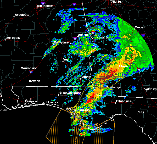 Radar Image for Severe Thunderstorms near Colquitt, GA at 2/24/2016 1:49 AM EST