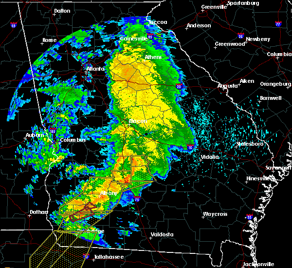 Radar Image for Severe Thunderstorms near Sylvester, GA at 2/24/2016 1:59 AM EST