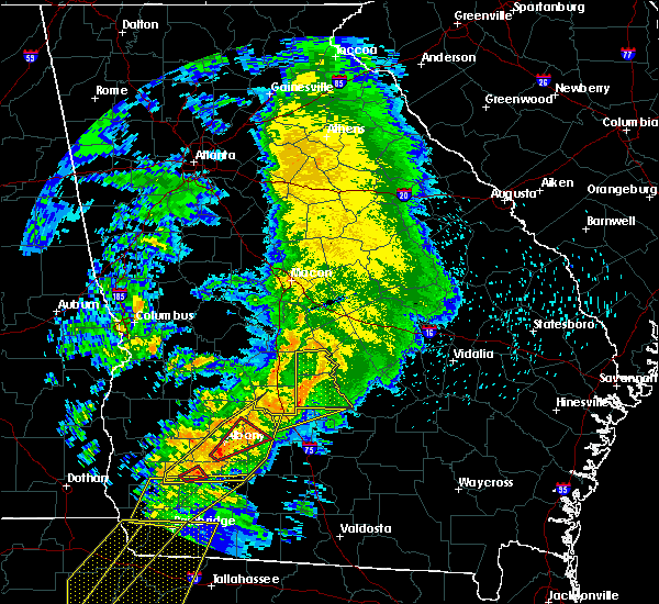 Radar Image for Severe Thunderstorms near Rochelle, GA at 2/24/2016 2:07 AM EST