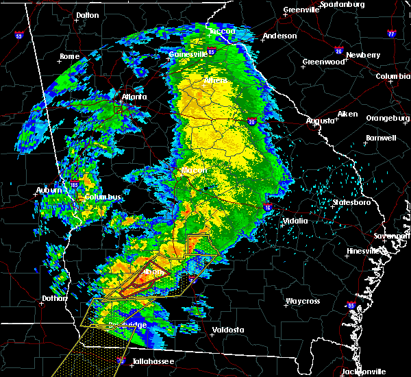 Radar Image for Severe Thunderstorms near Rochelle, GA at 2/24/2016 2:17 AM EST