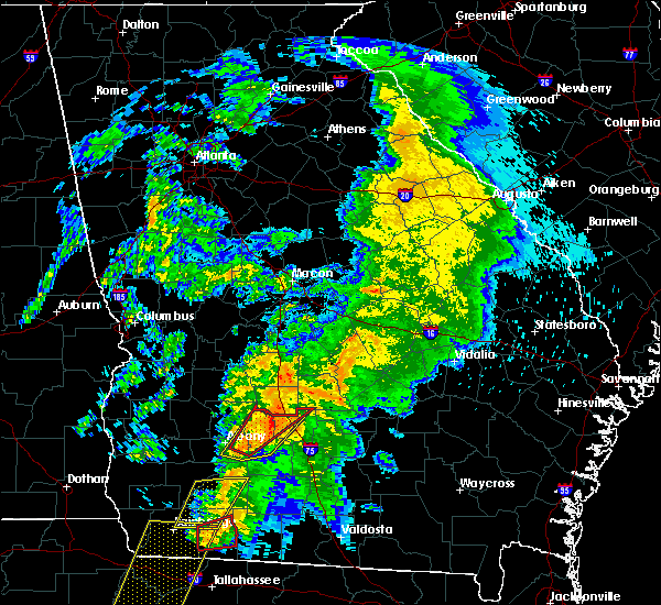 Radar Image for Severe Thunderstorms near Sylvester, GA at 2/24/2016 2:57 AM EST