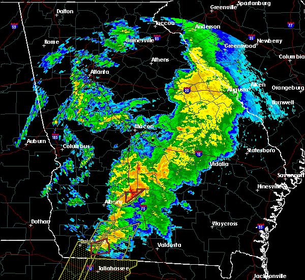 Radar Image for Severe Thunderstorms near Sylvester, GA at 2/24/2016 3:09 AM EST