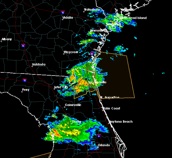 Radar Image for Severe Thunderstorms near Fleming Island, FL at 2/24/2016 7:54 AM EST