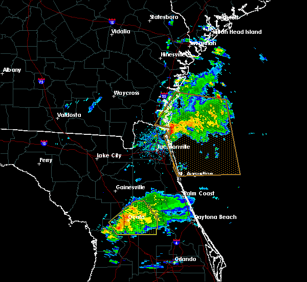 Radar Image for Severe Thunderstorms near Silver Springs Shores, FL at 2/24/2016 8:45 AM EST