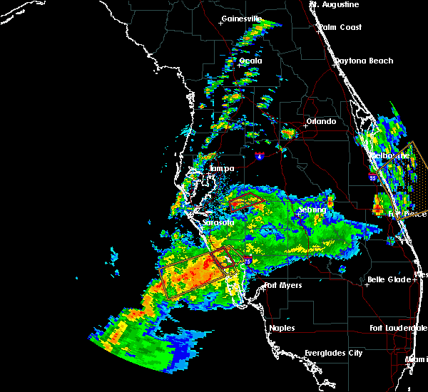 Radar Image for Severe Thunderstorms near Fort Green, FL at 2/24/2016 12:33 PM EST