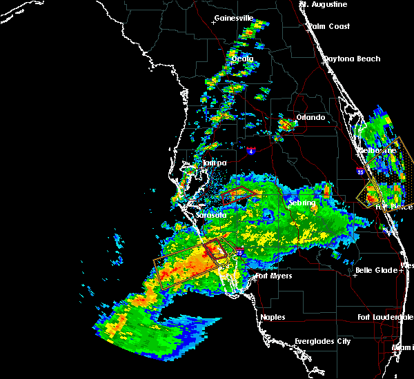 Radar Image for Severe Thunderstorms near Fort Green, FL at 2/24/2016 12:45 PM EST