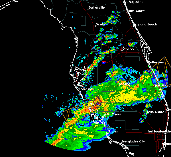 Radar Image for Severe Thunderstorms near Arcadia, FL at 2/24/2016 1:32 PM EST