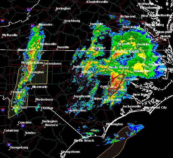 Radar Image for Severe Thunderstorms near Pinetops, NC at 2/24/2016 1:36 PM EST