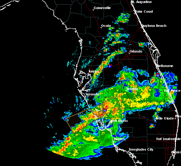 Radar Image for Severe Thunderstorms near Southeast Arcadia, FL at 2/24/2016 1:39 PM EST