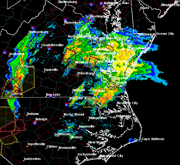 Radar Image for Severe Thunderstorms near Short Pump, VA at 2/24/2016 3:15 PM EST