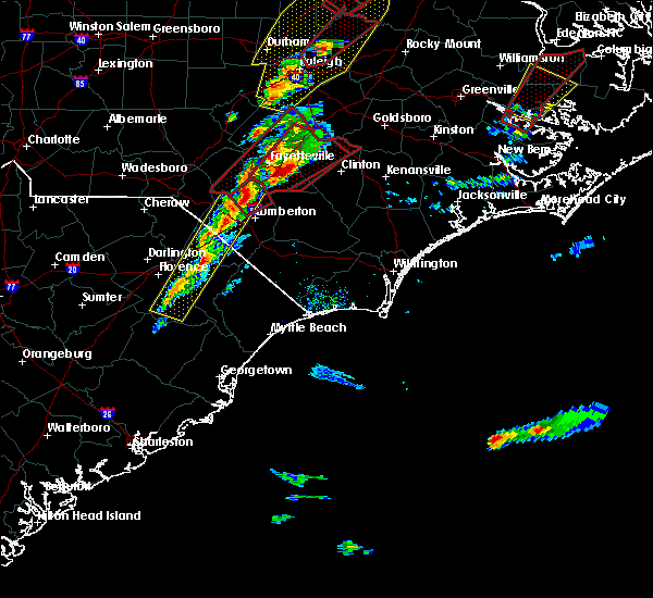Radar Image for Severe Thunderstorms near Pembroke, NC at 2/24/2016 5:30 PM EST