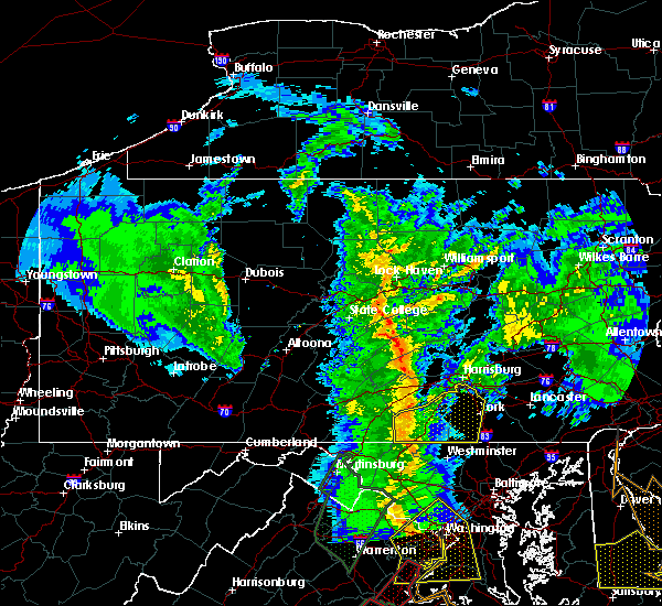 Radar Image for Severe Thunderstorms near Carroll Valley, PA at 2/24/2016 5:40 PM EST