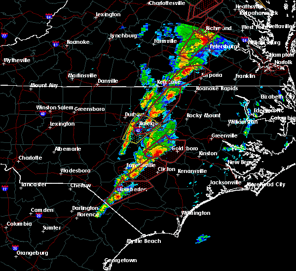 Interactive Hail Maps Hail Map For Louisburg Nc