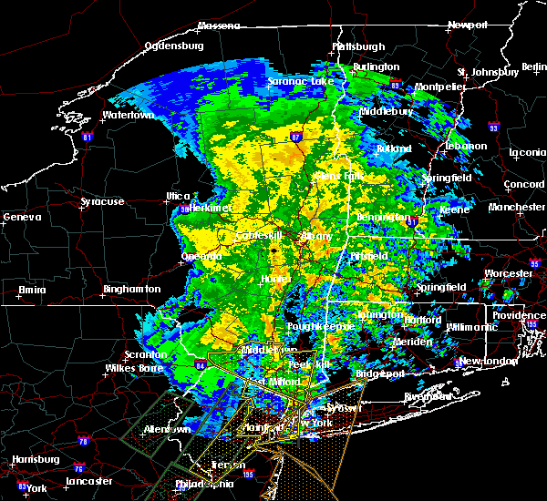 Radar Image for Severe Thunderstorms near Kingston, NY at 2/24/2016 11:25 PM EST