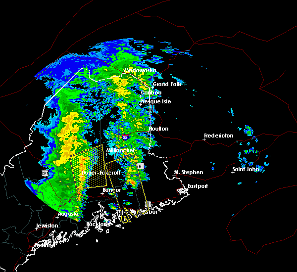 Radar Image for Severe Thunderstorms near Milo, ME at 2/25/2016 4:47 AM EST