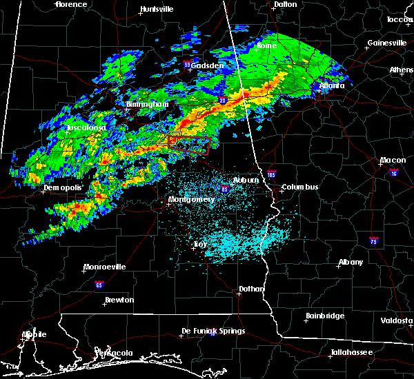 Radar Image for Severe Thunderstorms near Mount Olive, AL at 3/1/2016 6:48 PM CST