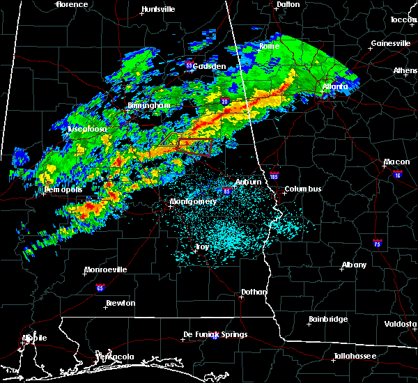 Radar Image for Severe Thunderstorms near Mount Olive, AL at 3/1/2016 6:54 PM CST