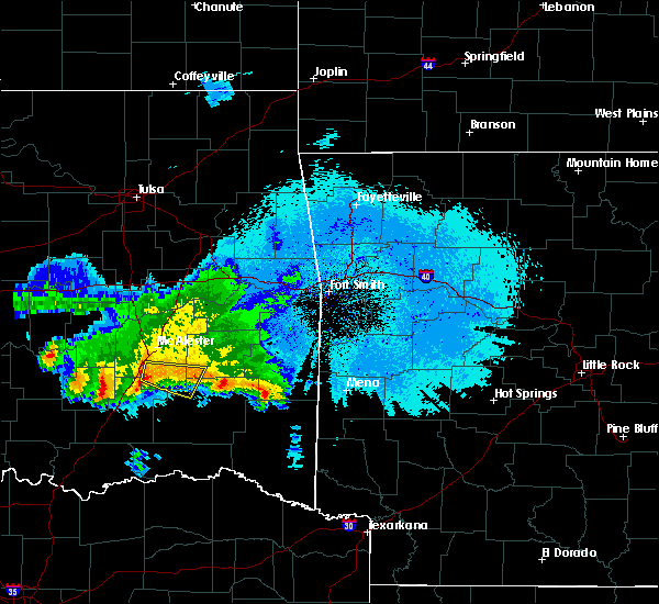 Radar Image for Severe Thunderstorms near Pittsburg, OK at 3/2/2016 11:08 PM CST
