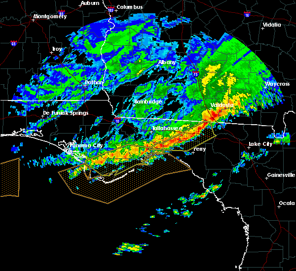 Radar Image for Severe Thunderstorms near Madison, FL at 3/3/2016 11:33 PM EST